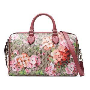 Gucci Supreme Blooms Medium Boston Bag